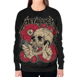 """Свитшот женский с полной запечаткой """"Metallica"""" - heavy metal, metallica, рок музыка, металлика, thrash metal"""