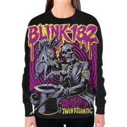 """Свитшот женский с полной запечаткой """"Blink-182 Band"""" - punk rock, рок группа, панк рок, blink-182, blink182"""