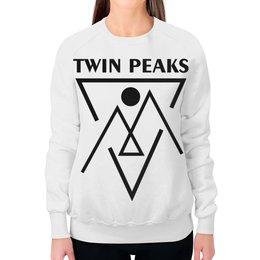 """Свитшот женский с полной запечаткой """"Твин Пикс"""" - сериалы, twin peaks, твин пикс, чёрный вигвам, black lodge"""