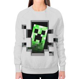 """Свитшот женский с полной запечаткой """"Крипер. Майнкрафт"""" - игры, minecraft, майнкрафт, крипер, геймерские"""