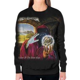 "Свитшот женский с полной запечаткой ""Helloween ( rock band )"" - heavy metal, helloween, рок музыка, хэви метал, rock music"