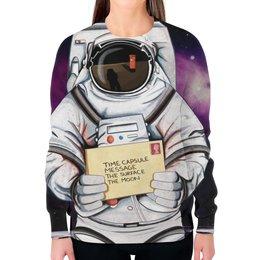 """Свитшот женский с полной запечаткой """"Space. NASA"""" - звезды, космос, вселенная, космический, thespaceway"""