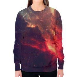 """Свитшот женский с полной запечаткой """"Our Space"""" - space, звезды, космос, наука, thespaceway"""
