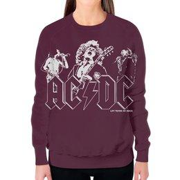 """Свитшот женский с полной запечаткой """"AC/DC Band"""" - heavy metal, hard rock, ac dc, эйси диси, хеви метал"""