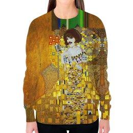 """Свитшот женский с полной запечаткой """"Freddie Mercury (Gustav Klimt)"""" - жене, искусство, фредди меркьюри, густав климт, меломанам"""