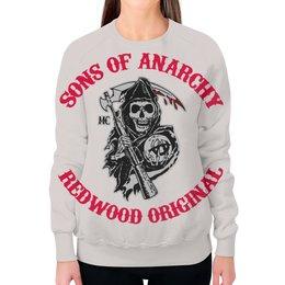"""Свитшот женский с полной запечаткой """"Sons Of Anarchy"""" - кино, сериал, sons of anarchy, байкеры, сыны анархии"""