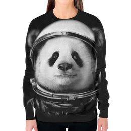 """Свитшот женский с полной запечаткой """"Панда Космонавт"""" - панда, космонавт"""