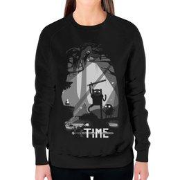 """Свитшот женский с полной запечаткой """"Время Приключений (Adventure Time)"""" - adventure time, время приключений"""