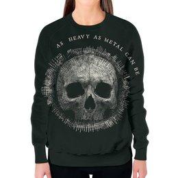 """Свитшот женский с полной запечаткой """"Heavy Metal Art"""" - skull, череп, heavy metal, рок музыка, хеви метал"""