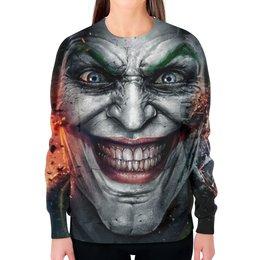 """Свитшот женский с полной запечаткой """"Джокер"""" - joker, джокер"""