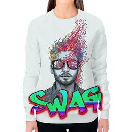 """Свитшот женский с полной запечаткой """"Swag Art"""" - красиво, swag, свэг, арт дизайн"""