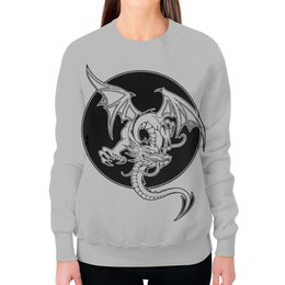 """Свитшот женский с полной запечаткой """"Дракон"""" - дракон, рисунок, графика, фэнтэзи"""