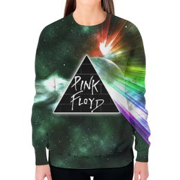 """Свитшот женский с полной запечаткой """"Pink Floyd , пинк флойд , музыка"""" - музыка, пинк флойд, pink floyd"""