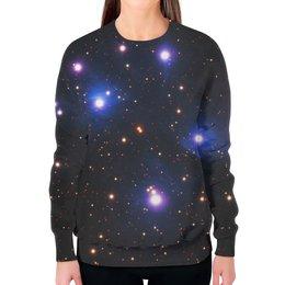 """Свитшот женский с полной запечаткой """"Космос (space)"""" - space, звезды, космос, вселенная, галактика"""