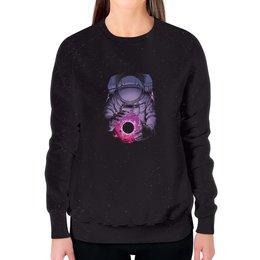 """Свитшот женский с полной запечаткой """"Карманная вселенная"""" - космос, фантастика, вселенная, сюрреализм, космонавт"""