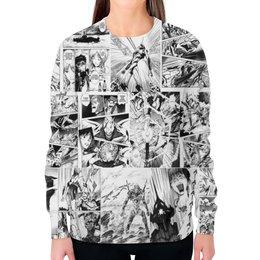 """Свитшот женский с полной запечаткой """"Evangelion"""" - авторские майки, комиксы, манга, япония, евангелион"""