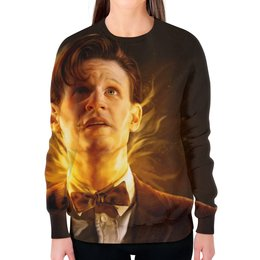"""Свитшот женский с полной запечаткой """"Доктор Кто (Doctor Who)"""" - doctor who, доктор кто"""