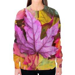 """Свитшот женский с полной запечаткой """"Осень"""" - осень, золотая осень, краски осени, тёплая осень, что такое осень"""