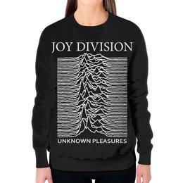 """Свитшот женский с полной запечаткой """"Joy Division"""" - joy division, unknown pleasures, группы, ian curtis, пост-панк"""