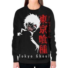 """Свитшот женский с полной запечаткой """"Токийский гуль"""" - аниме, манга, токийский гуль, tokyo ghoul, кен канеки"""