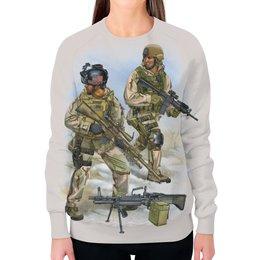 """Свитшот женский с полной запечаткой """"US Army"""" - америка, солдаты, арт дизайн, us army, армия сша"""