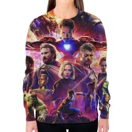 """Свитшот женский с полной запечаткой """"Мстители"""" - marvel, мстители, avengers, марвел, война бесконечности"""