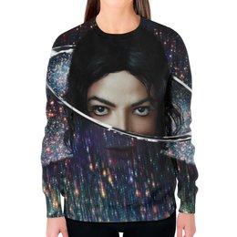 """Свитшот женский с полной запечаткой """"Майкл Джексон (Michael Jackson)"""" - майкл джексон"""