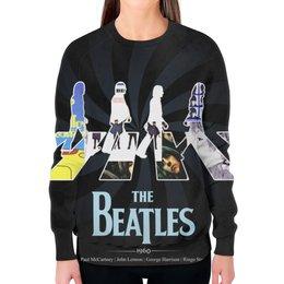 """Свитшот женский с полной запечаткой """"Битлз (The Beatles)"""" - beatles, the beatles, битлы, битлз"""