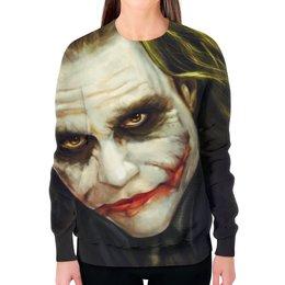 """Свитшот женский с полной запечаткой """"Джокер (Joker)"""" - joker, джокер"""