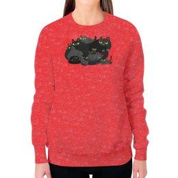 """Свитшот женский с полной запечаткой """"Котики"""" - кот, котэ, кошечка, котики, кошечки"""