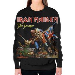 "Свитшот женский с полной запечаткой ""Iron Maiden Band"" - heavy metal, iron maiden, хэви метал, eddie, nwobhm"