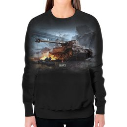 "Свитшот женский с полной запечаткой ""World Of Tanks"" - игра, game, world of tanks, танки, wot"