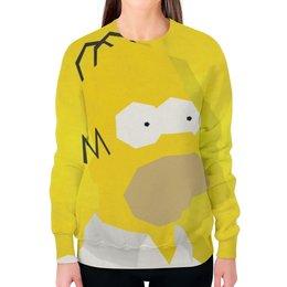 """Свитшот женский с полной запечаткой """"гомер , симпсоны , The Simpsons , мультики"""" - мультики, гомер, симпсоны, the simpsons"""
