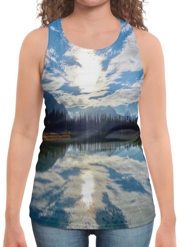 Борцовка с полной запечаткой Printio Облака над горами