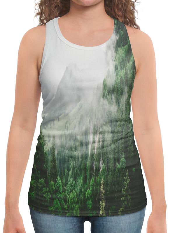 Борцовка с полной запечаткой Printio Туманные горы платье летнее printio туманные горы