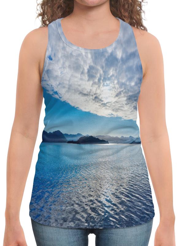 футболка с полной запечаткой для мальчиков printio остров в море Борцовка с полной запечаткой Printio Остров в море