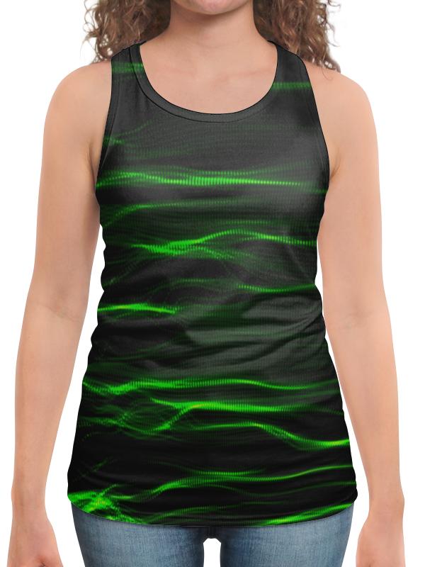Борцовка с полной запечаткой Printio Зеленые линии юбка в складку printio зеленые линии