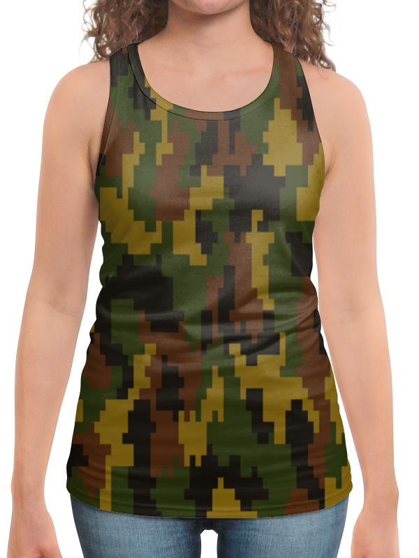 Борцовка с полной запечаткой Printio Армейский камуфляж jamont армейский зеленый