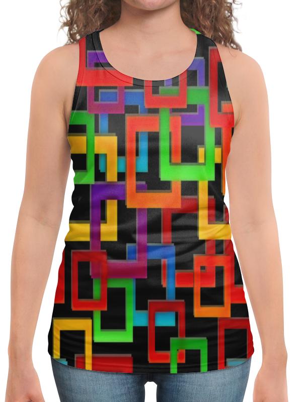 Борцовка с полной запечаткой Printio Цветные квадраты борцовка с полной запечаткой printio квадраты цветные