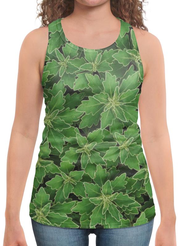 Борцовка с полной запечаткой Printio Зеленые листья цена и фото