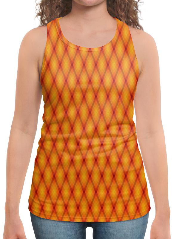 Борцовка с полной запечаткой Printio Клетка оранжевая борцовка с полной запечаткой printio оранжевая клетка