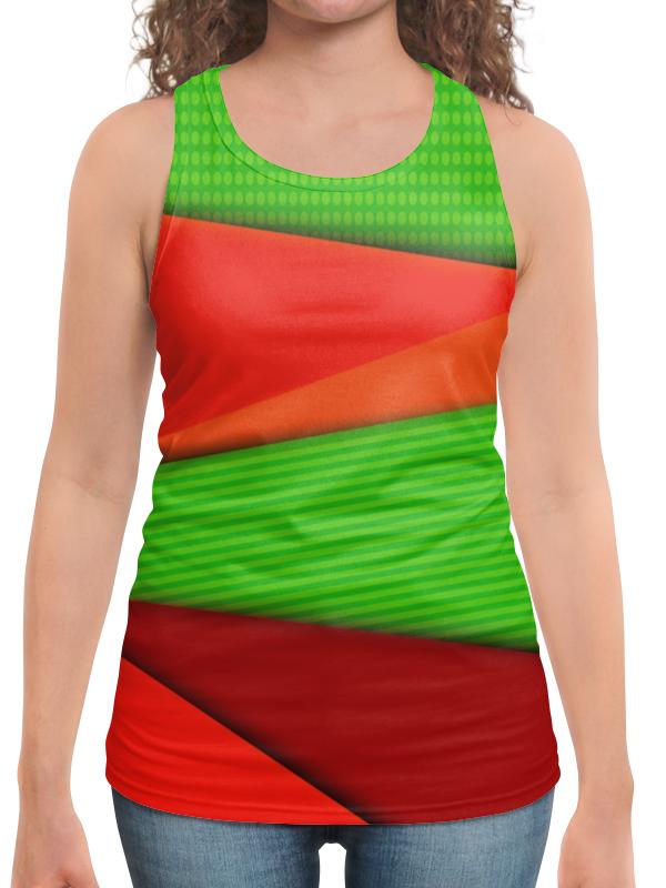 Борцовка с полной запечаткой Printio Цветные полосы