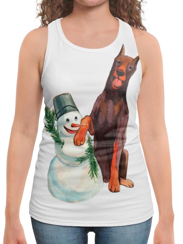 футболка с полной запечаткой для мальчиков printio забавная акварельная собака символ 2018 года Борцовка с полной запечаткой Printio Забавная акварельная собака, символ 2018 года