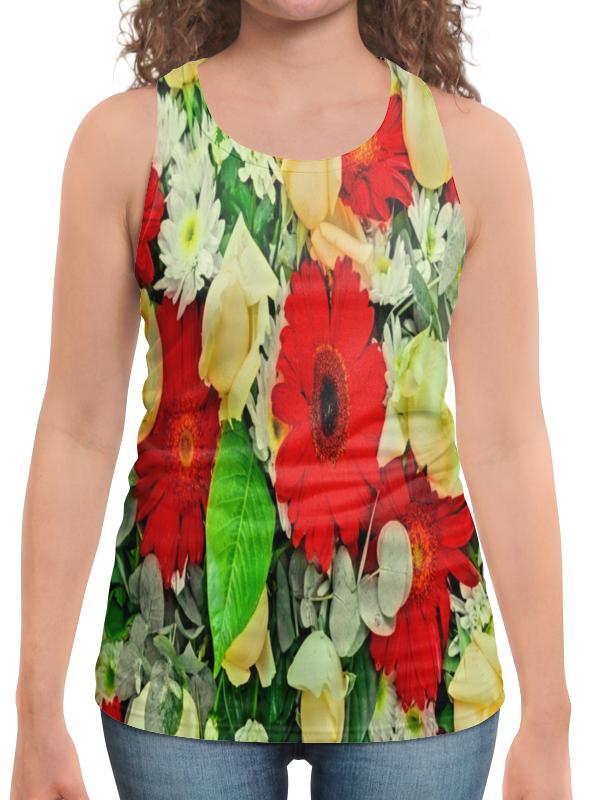 Борцовка с полной запечаткой Printio Букет цветов букет из цветов жасмина