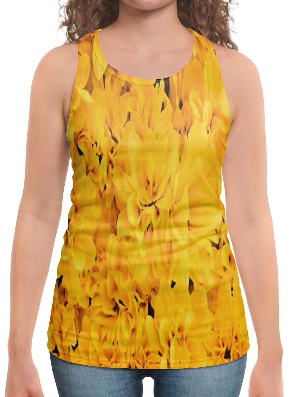 Борцовка с полной запечаткой Printio Желтые цветы борцовка с полной запечаткой printio руслан