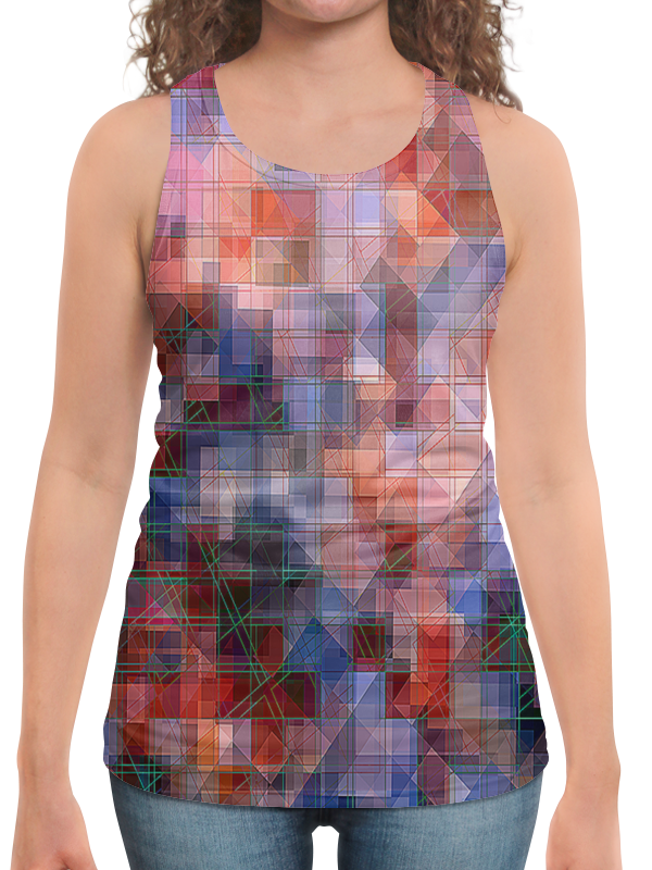 Борцовка с полной запечаткой Printio Пиксель-арт. разноцветный паттерн волченко ю с пиксель арт