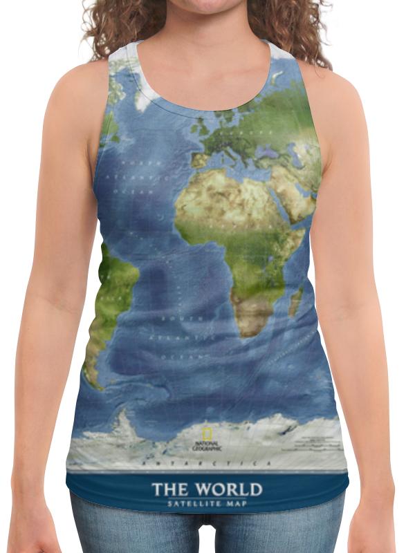 Борцовка с полной запечаткой Printio Карта мира