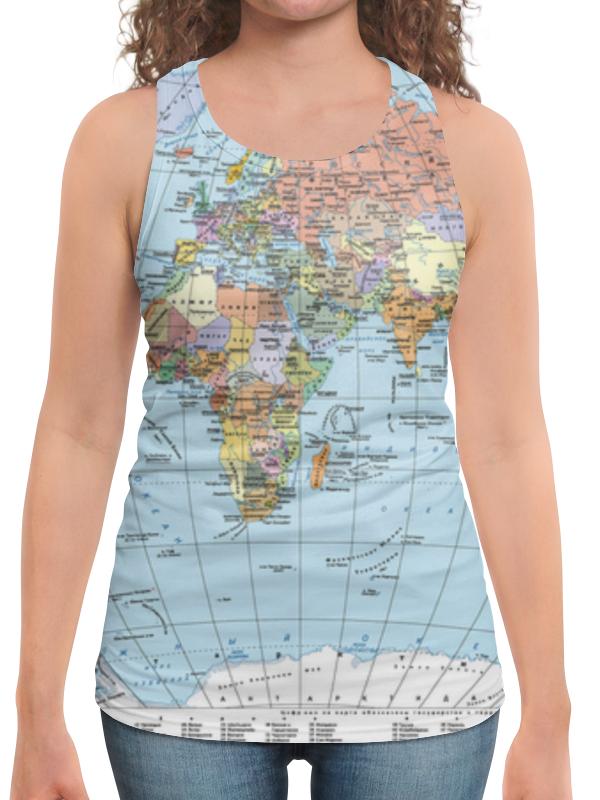 Борцовка с полной запечаткой Printio Карта мира майка борцовка print bar карта россии