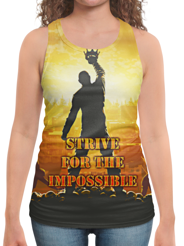 Борцовка с полной запечаткой Printio Impossible six impossible things