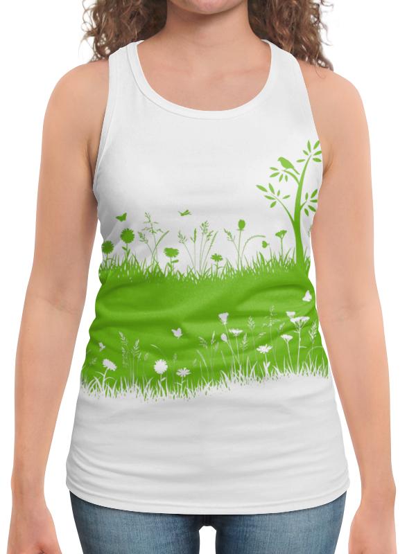Борцовка с полной запечаткой Printio Летняя трава биолит трава ромашки 100 г